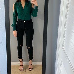 Bebe emerald green bodysuit